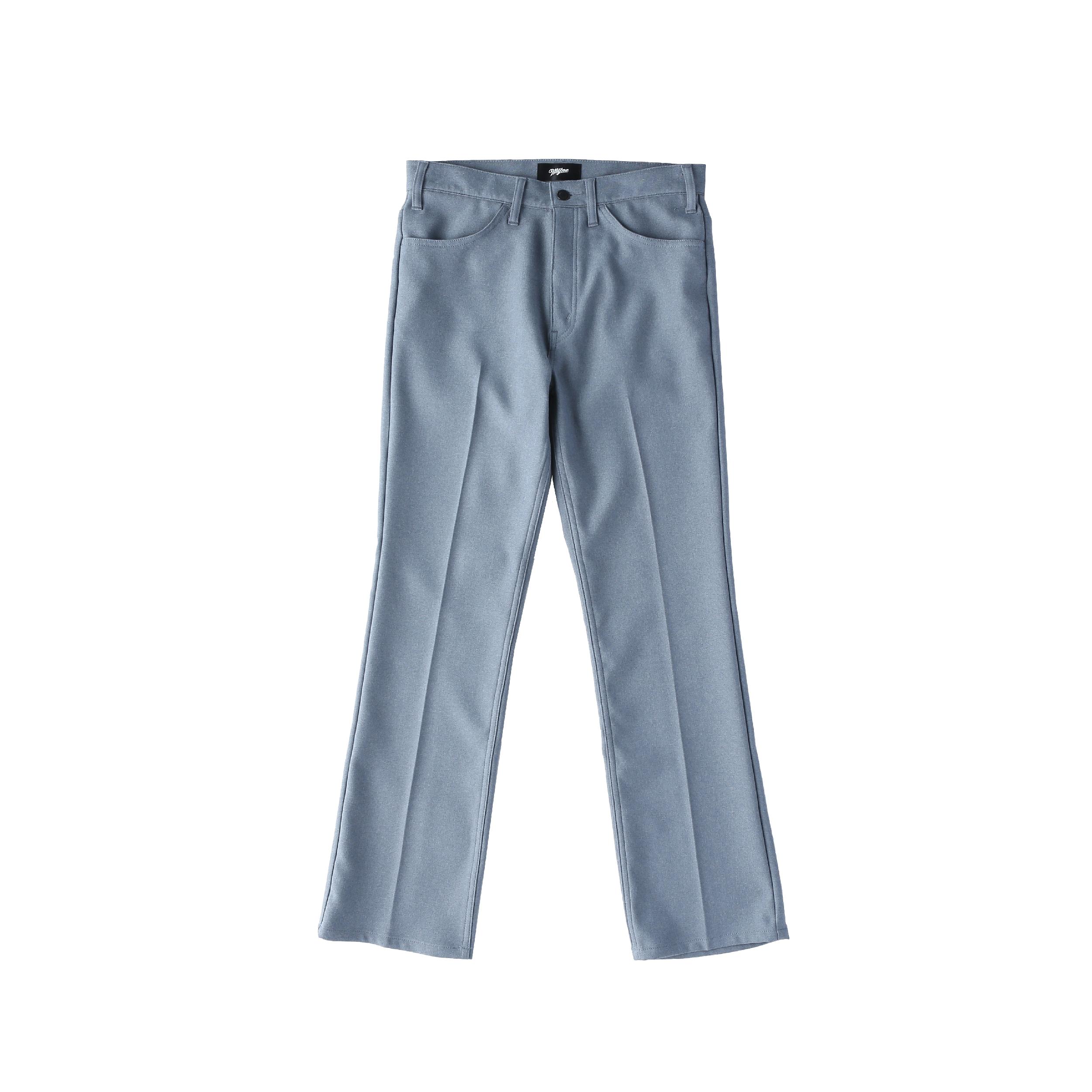 Wappen boot-cut pants / BLUE - 画像1