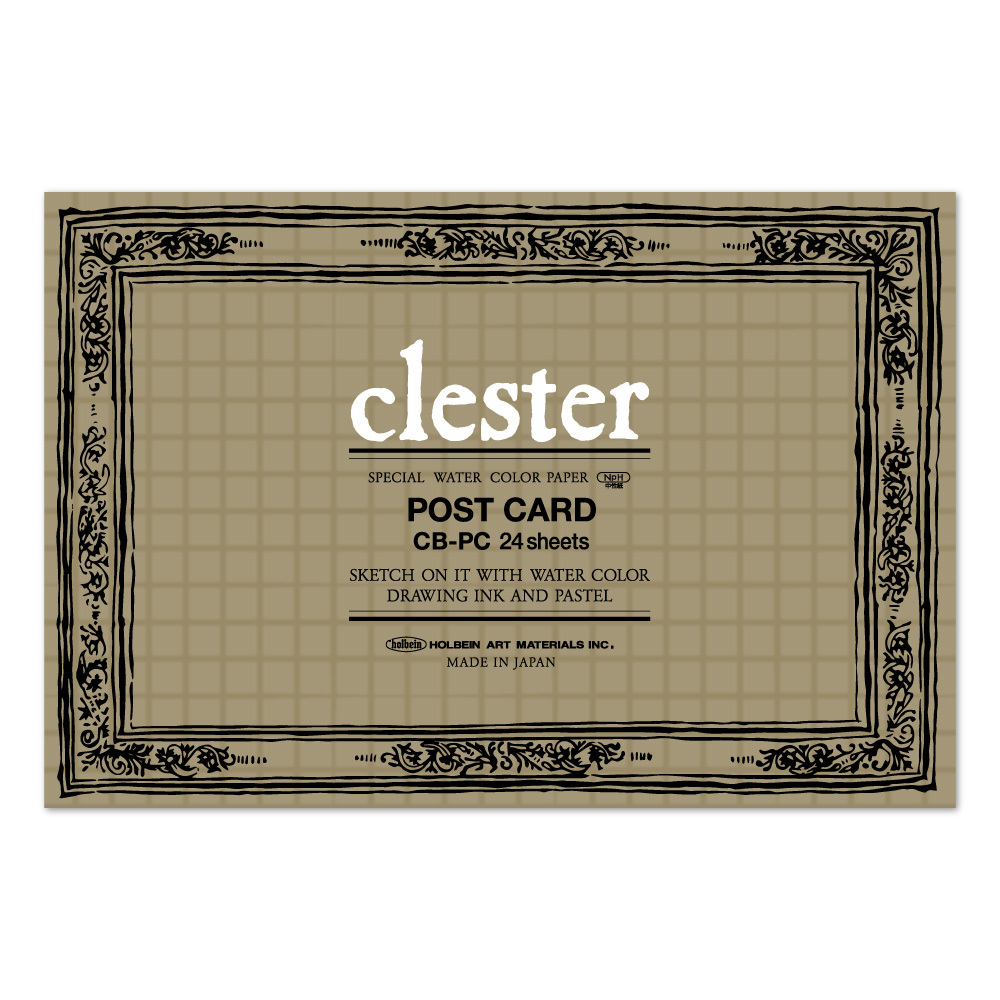 クレスター水彩紙 ポストカード ブロック 210g 中目