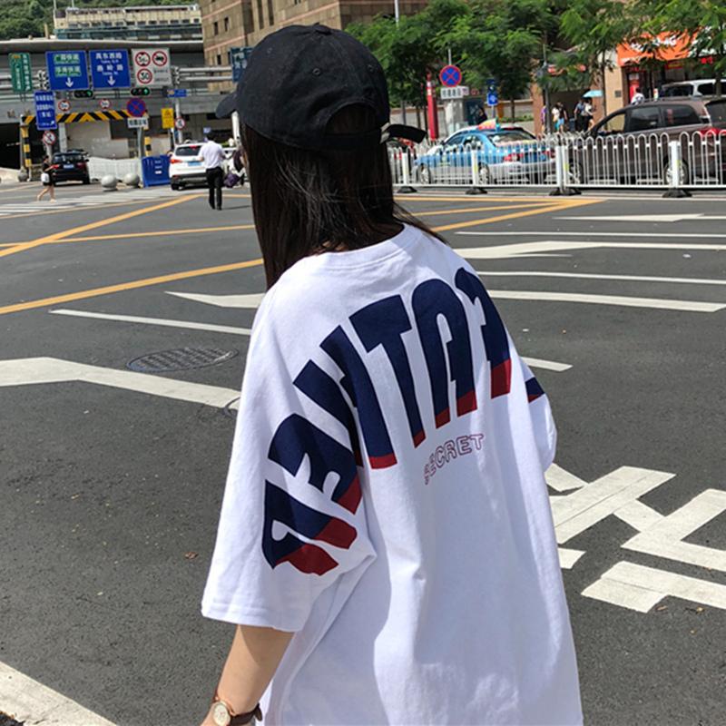 【tops】カジュアルゆったりアルファベットTシャツ18795260