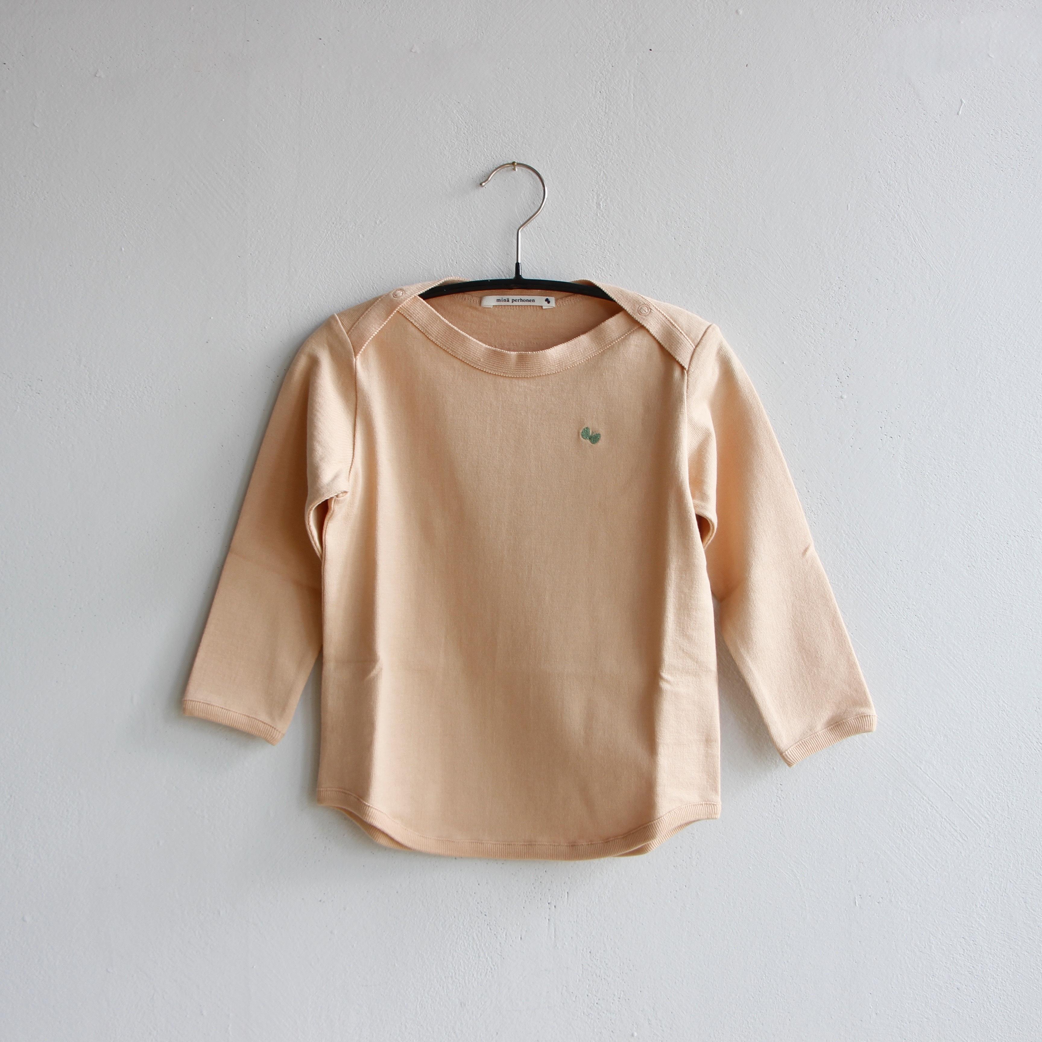 《mina perhonen 2020AW》zutto 長袖カットソー / pink beige / 110cm