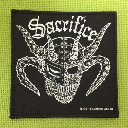 "SACRIFICE ""Crest Of Black"" 刺繍パッチ"