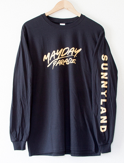 【MAYDAY PARADE】Script Long Sleeve (Black)