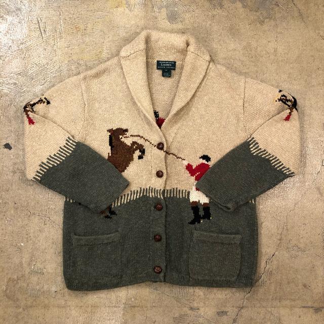 Lauren Jockey Pattern Cardigan ¥12,800+tax