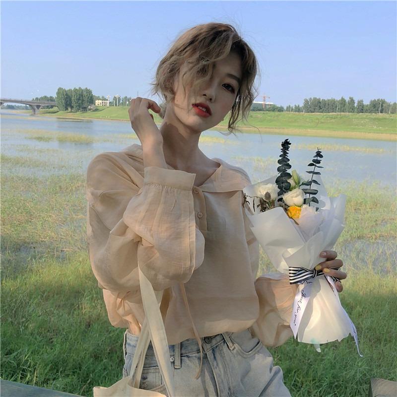 【送料無料】 春夏におすすめ♡ ゆるカジ フード付き プルオーバー 薄手 パーカー 透け感 シースルー シャツ