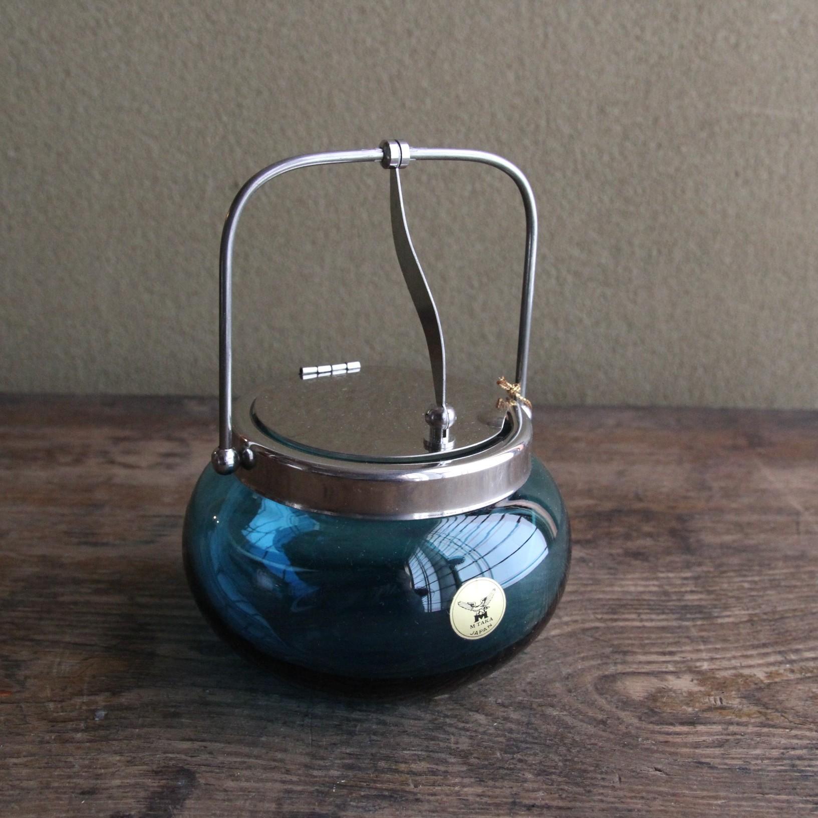 エムタカ 青ガラスのシュガーポット