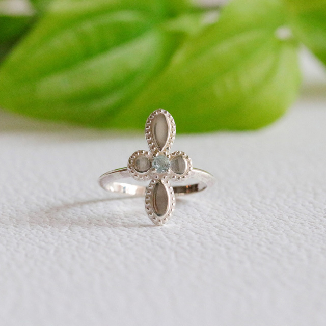 Botanical Cross Ring
