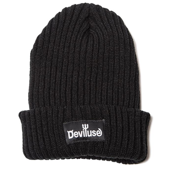 【Deviluse | デビルユース】Logo Beanie(Black)
