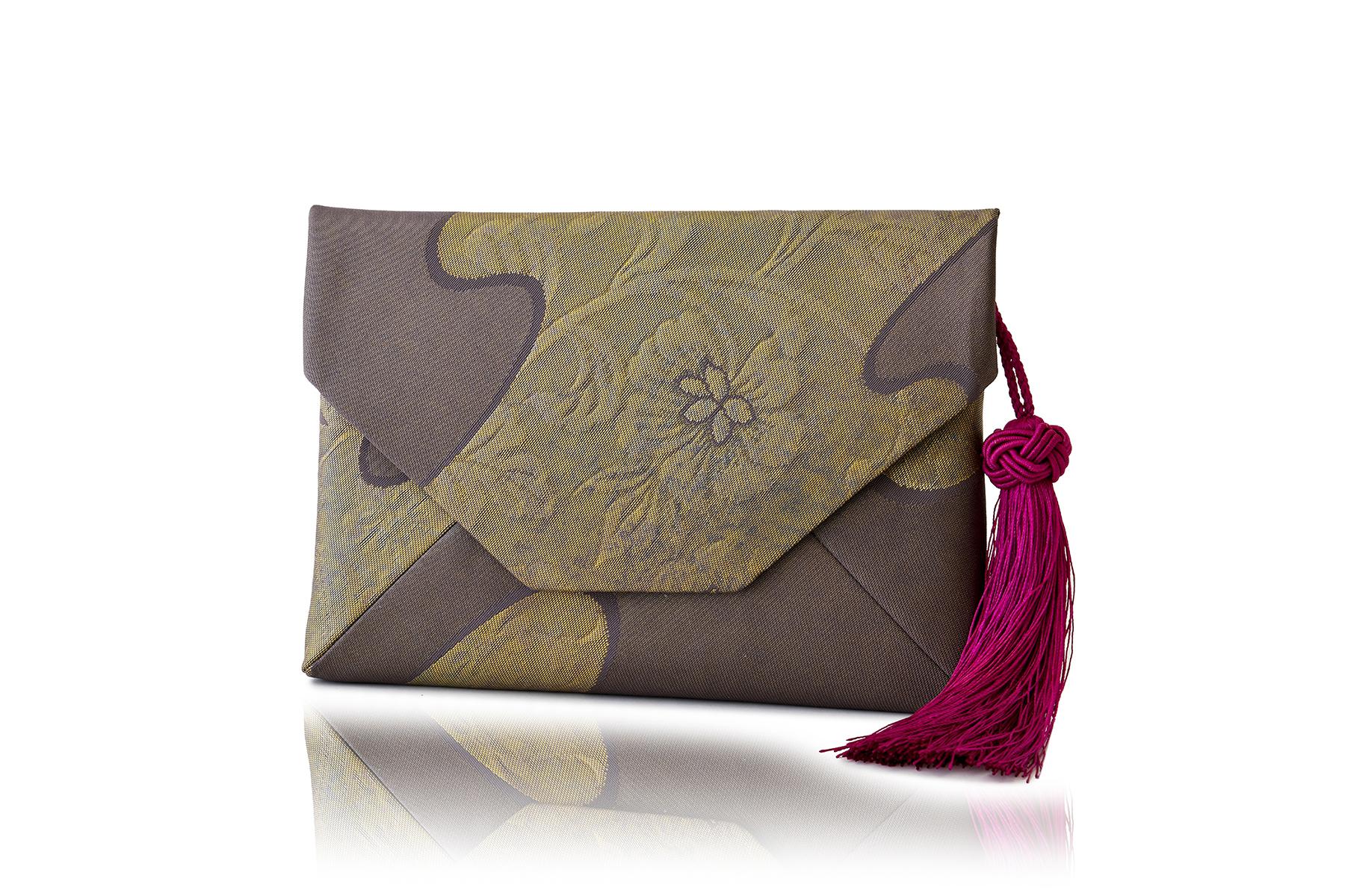 すきや袋/ 古代錦袋帯/ 「かすみ更紗」/ 藤鼠 / OSK-FKOD-M63-C12-3