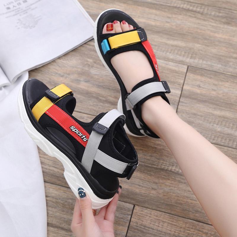 【shoes】アルファベット配色ファッションサンダル19213743