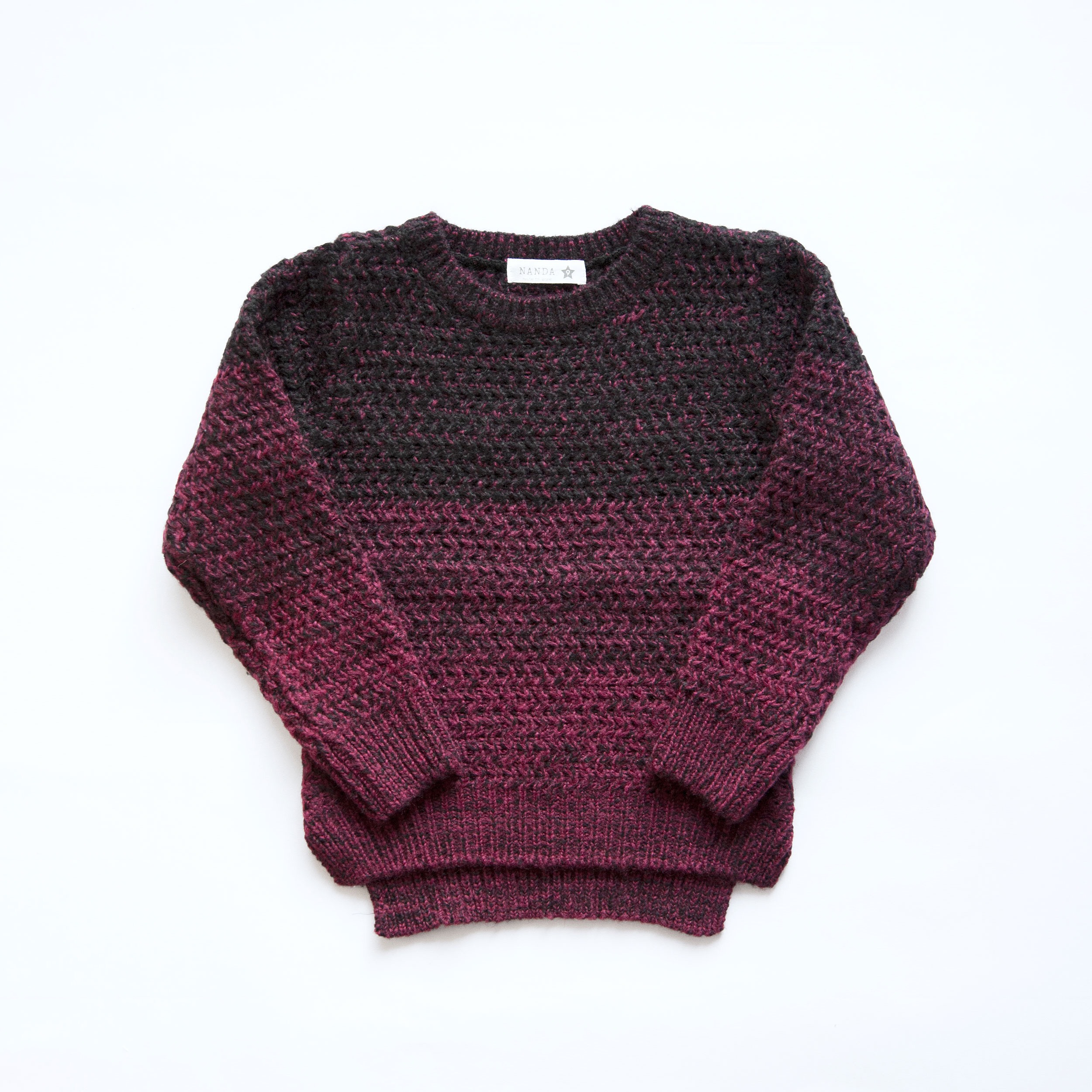 【SALE】 2,800yen⇒1,960 knitted(パープル)