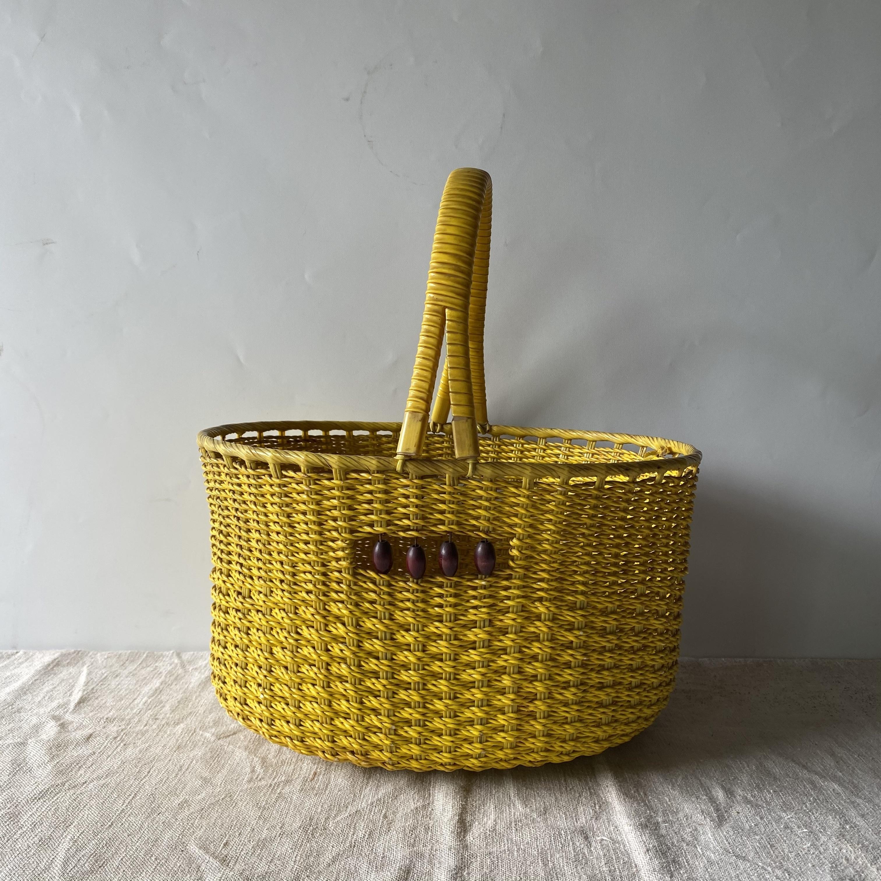 買い物カゴ 昭和レトロ 天然生活 バスケット レトロ