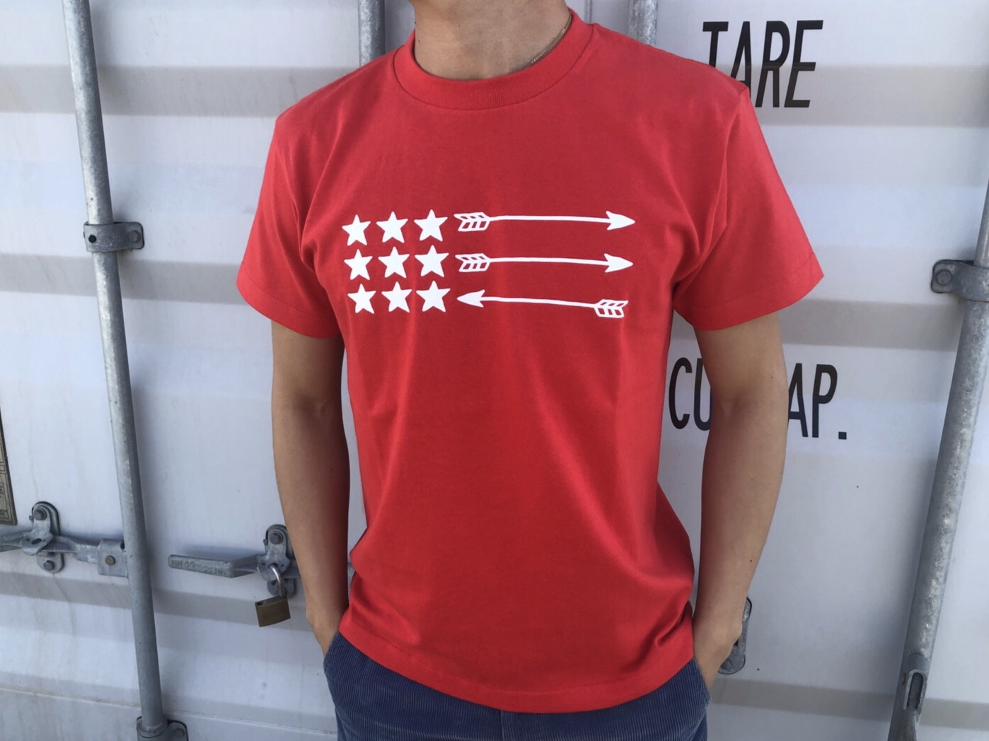 【Fine7月号掲載】USA ArrowFlag Tシャツ(red)