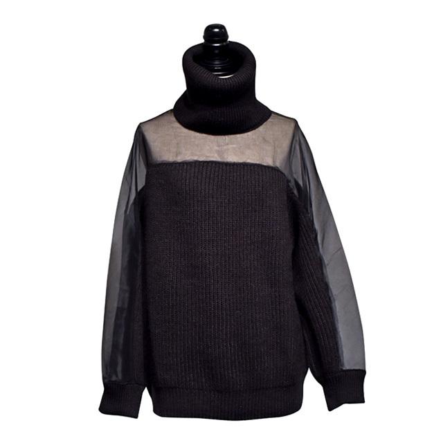 NATALIE KOLYOZYAN / Transparent Detail Knitwear / Black