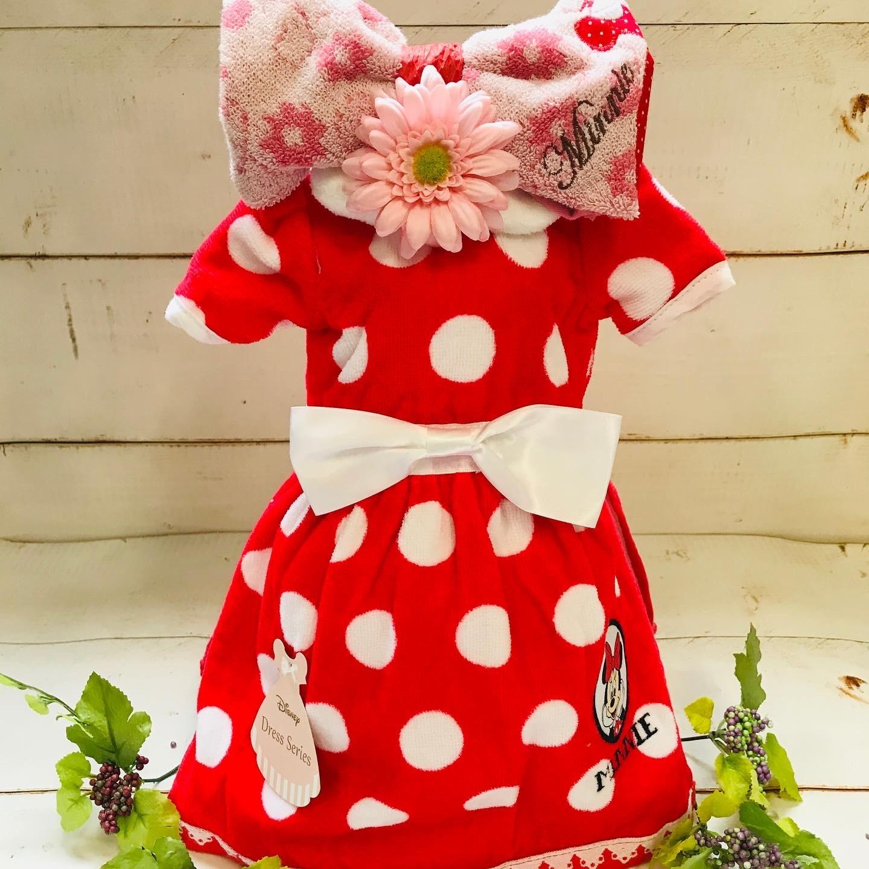 ディズニープリンセス おむつドレス(ミニー) おむつケーキ  出産祝い ギフト オシャレ 個性的  かわいい  キャラクター