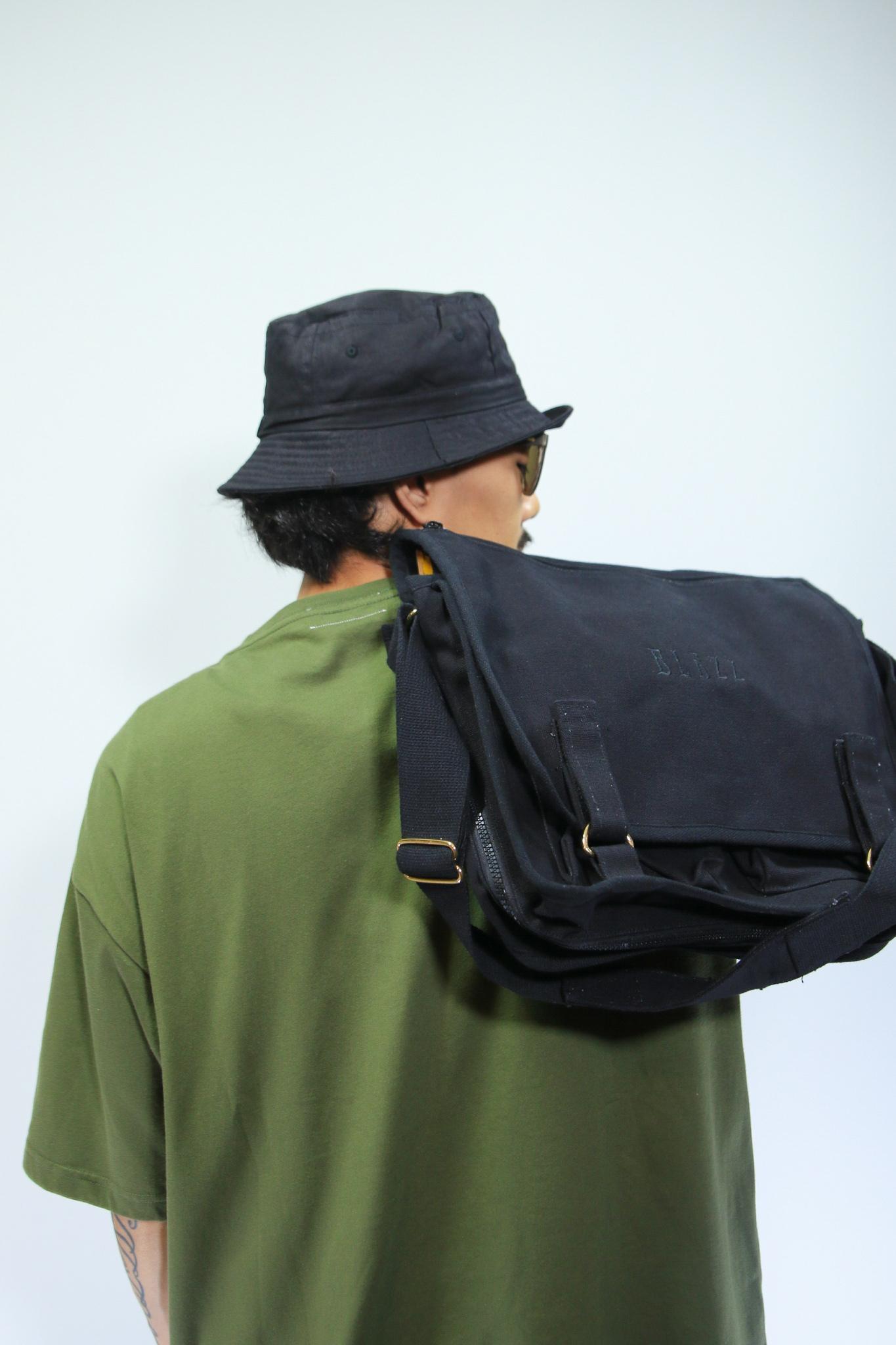 Euro Blazz Canvas School Bag [BLACK]