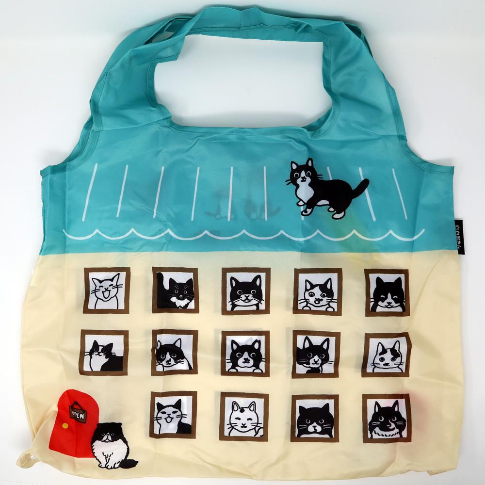猫エコバッグ(白黒さんいらっしゃい)白黒さんのお家