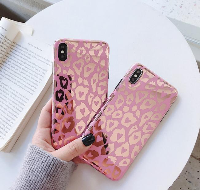 【お取り寄せ商品、送料無料】レオパード 光沢感 iPhoneケース