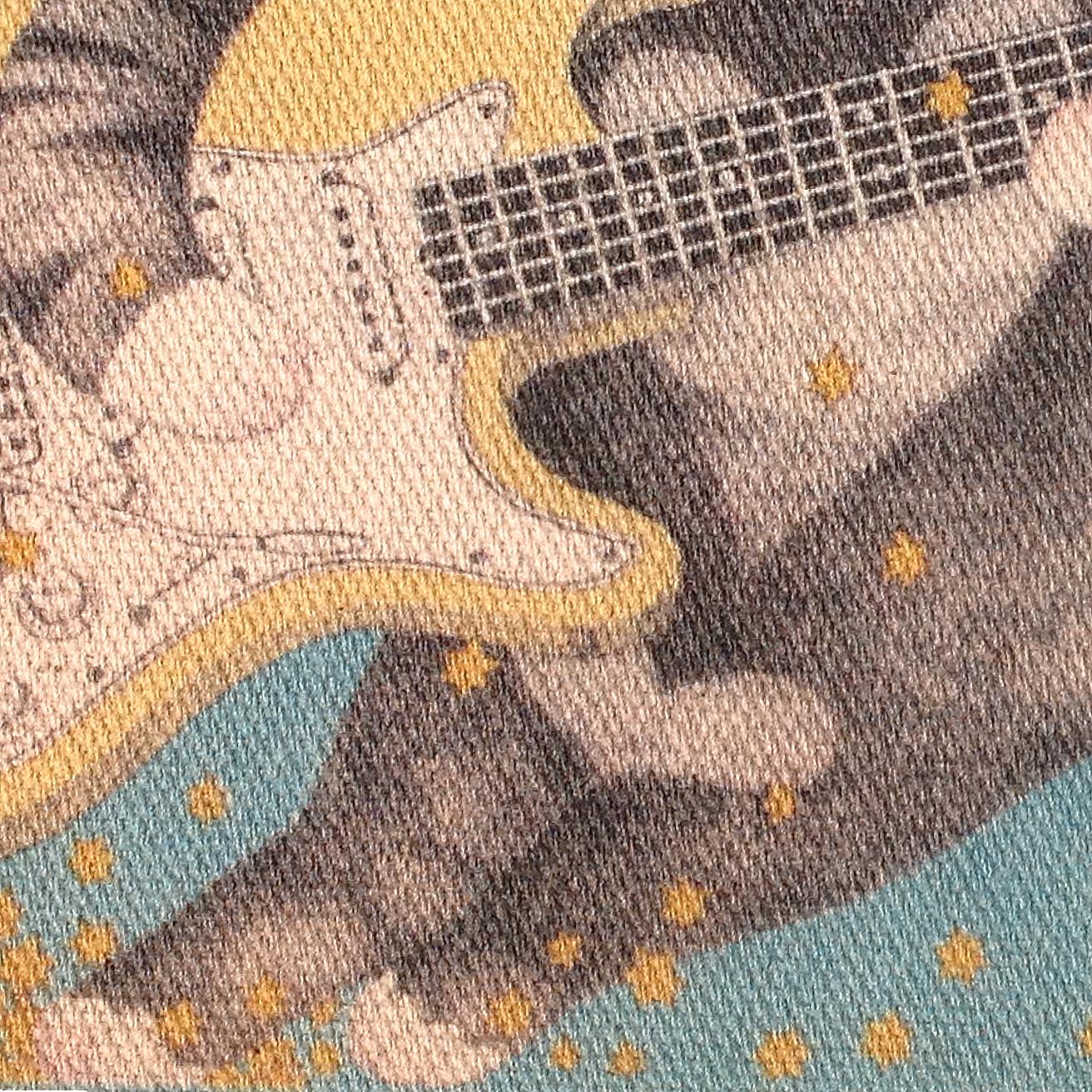 ☆BASE Mag.掲載商品☆ 猫とギター  トートバッグ (S)
