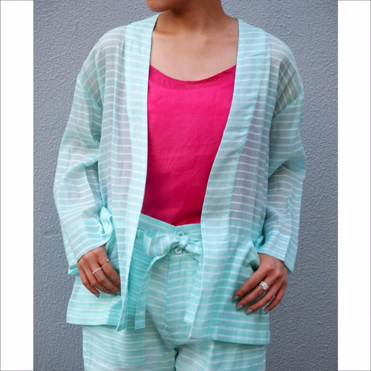 【hippiness】cotton chiffon short gown/【ヒッピネス】コットン シフォン ショート ガウン