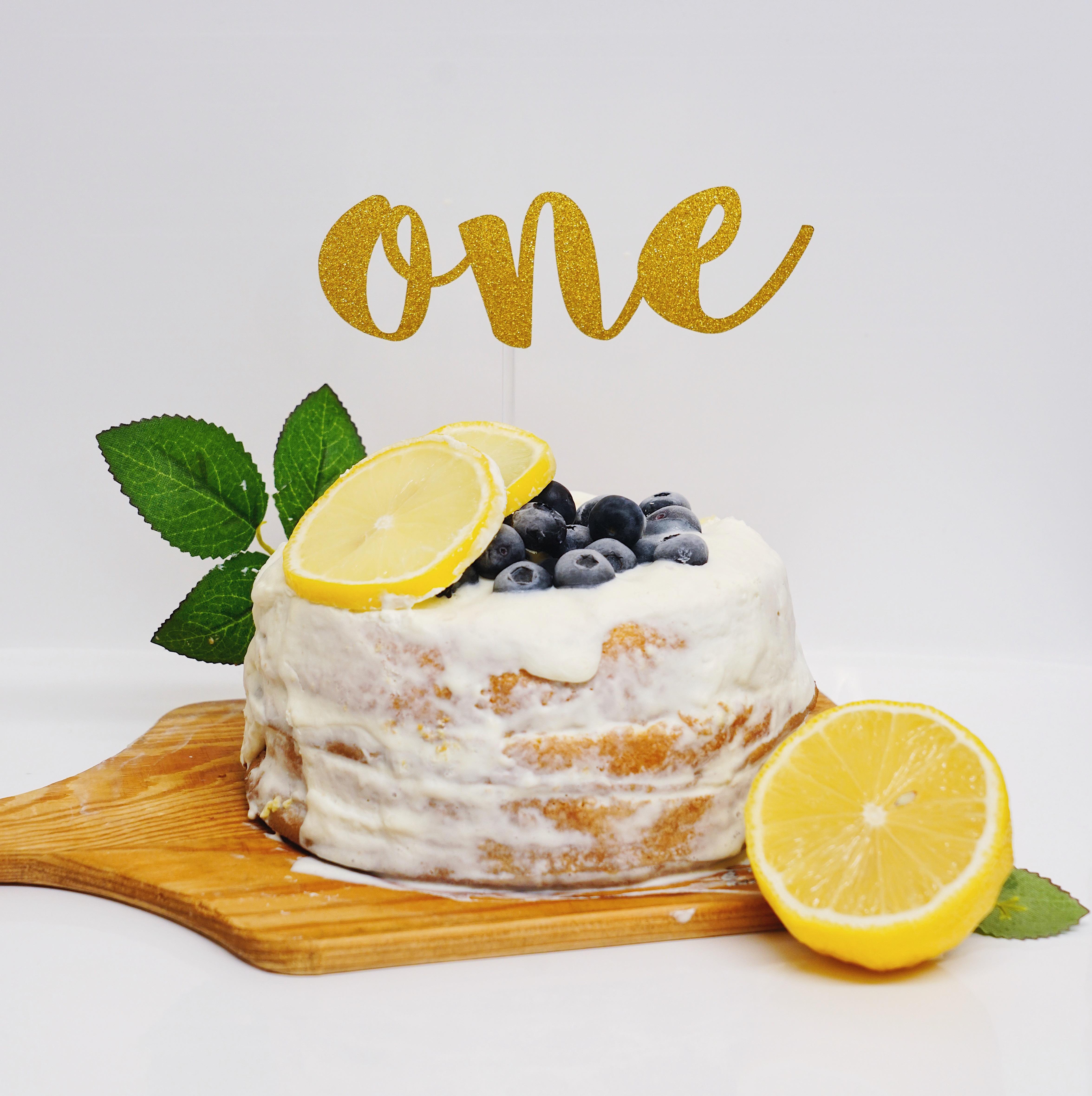 バースデーケーキトッパー(L・グリッターゴールド・名前なし)誕生日 飾り付け