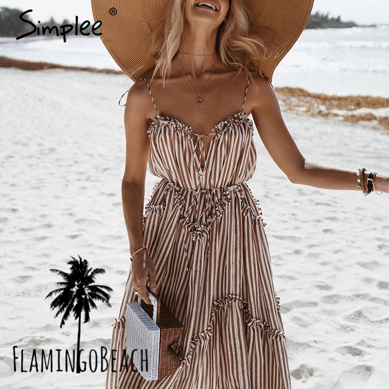 【FlamingoBeach】stripe onepice ワンピース