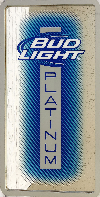 品番0545 パブミラー 『BUD LIGHT PLATINUM(バドライト プラチナム)』 壁掛 アート ディスプレイ アメリカン雑貨