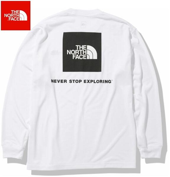 ノースフェイス ロンT 長袖 Tシャツ メンズ THE NORTH FACE ロングスリーブバックスクエアロゴティー NT82035 ホワイト