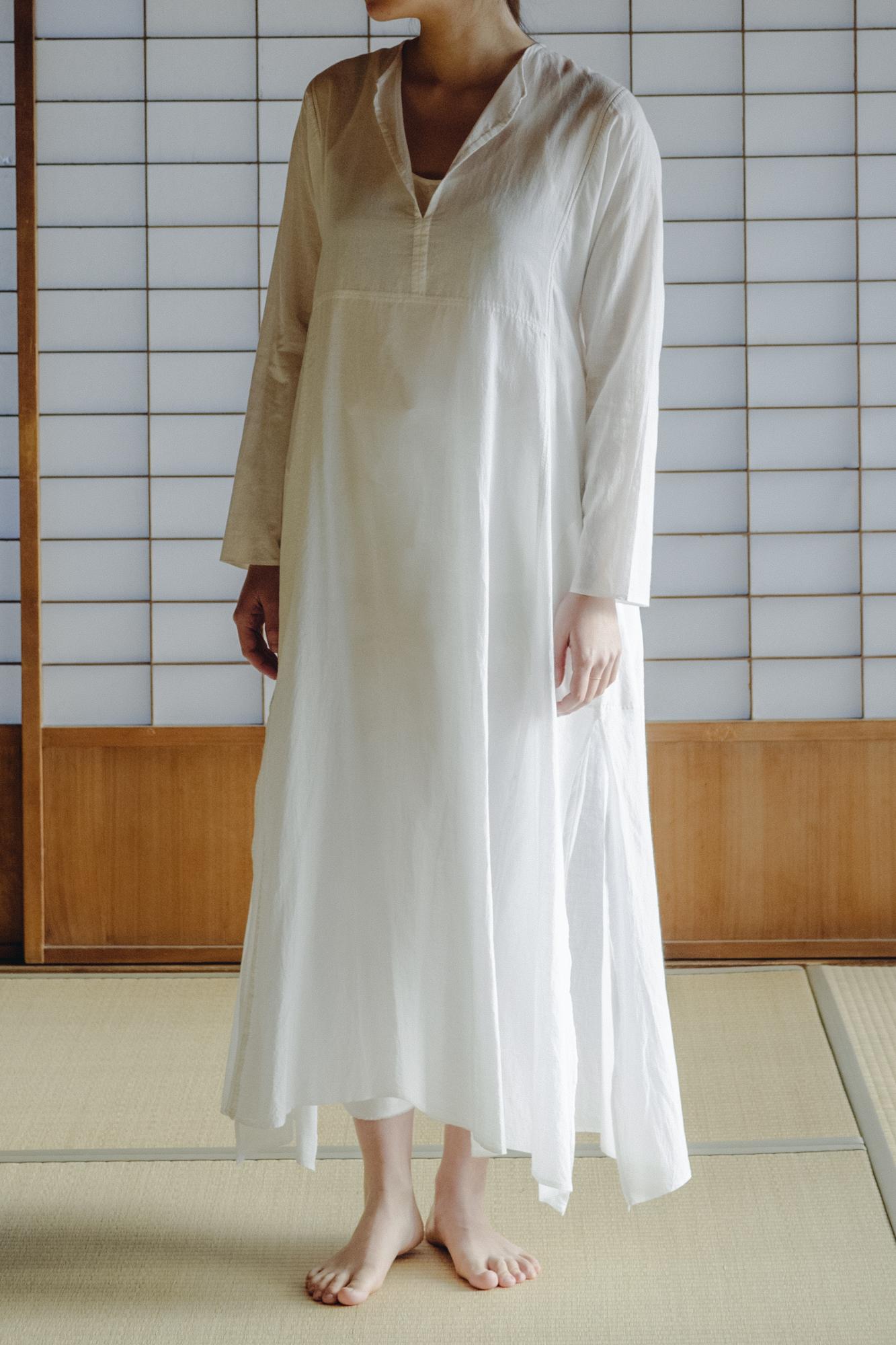 YAECA khadi  ラダーステッチドレス