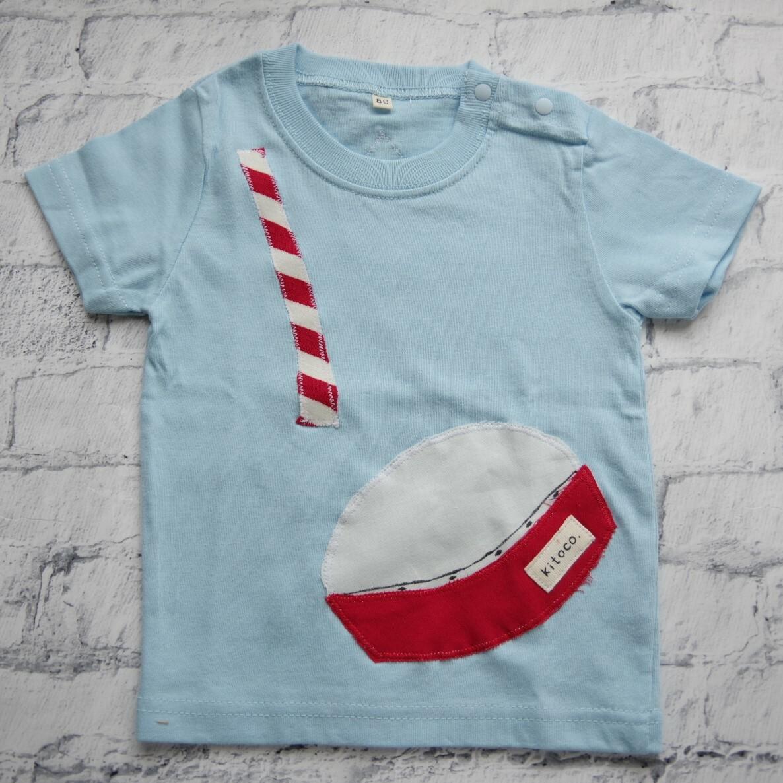 【kitoco.】アップリケのベビーTシャツ(エイサー・80サイズ)
