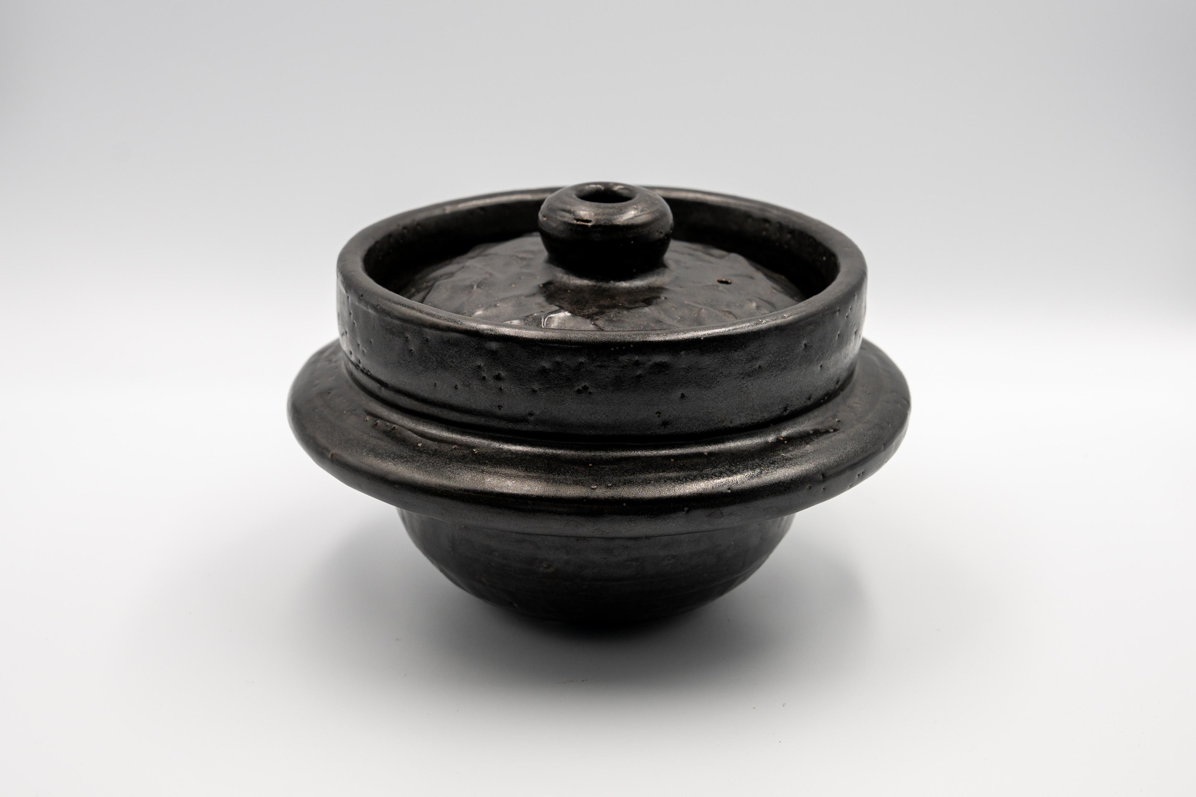 ◆受注生産◆  黒釉5合羽釜