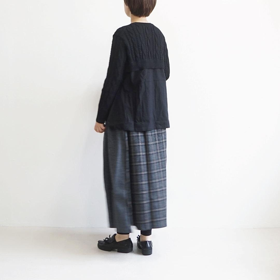 NARU ナル ケーブルニット×起毛プルオーバー 【返品交換不可】 (品番634616)