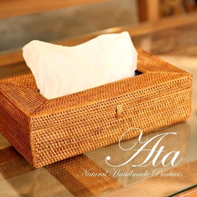 ■当日出荷■アタ製 リゾート感溢れるティッシュボックス A03 (ケース、収納、カバー)
