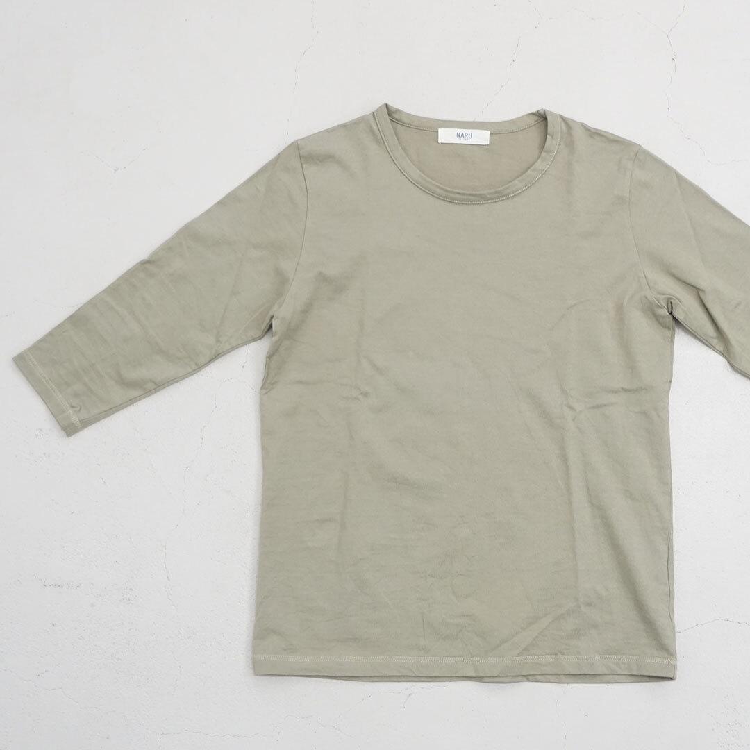 【再入荷なし】 NARU ナル 5分袖クルーカットソー (品番628071)