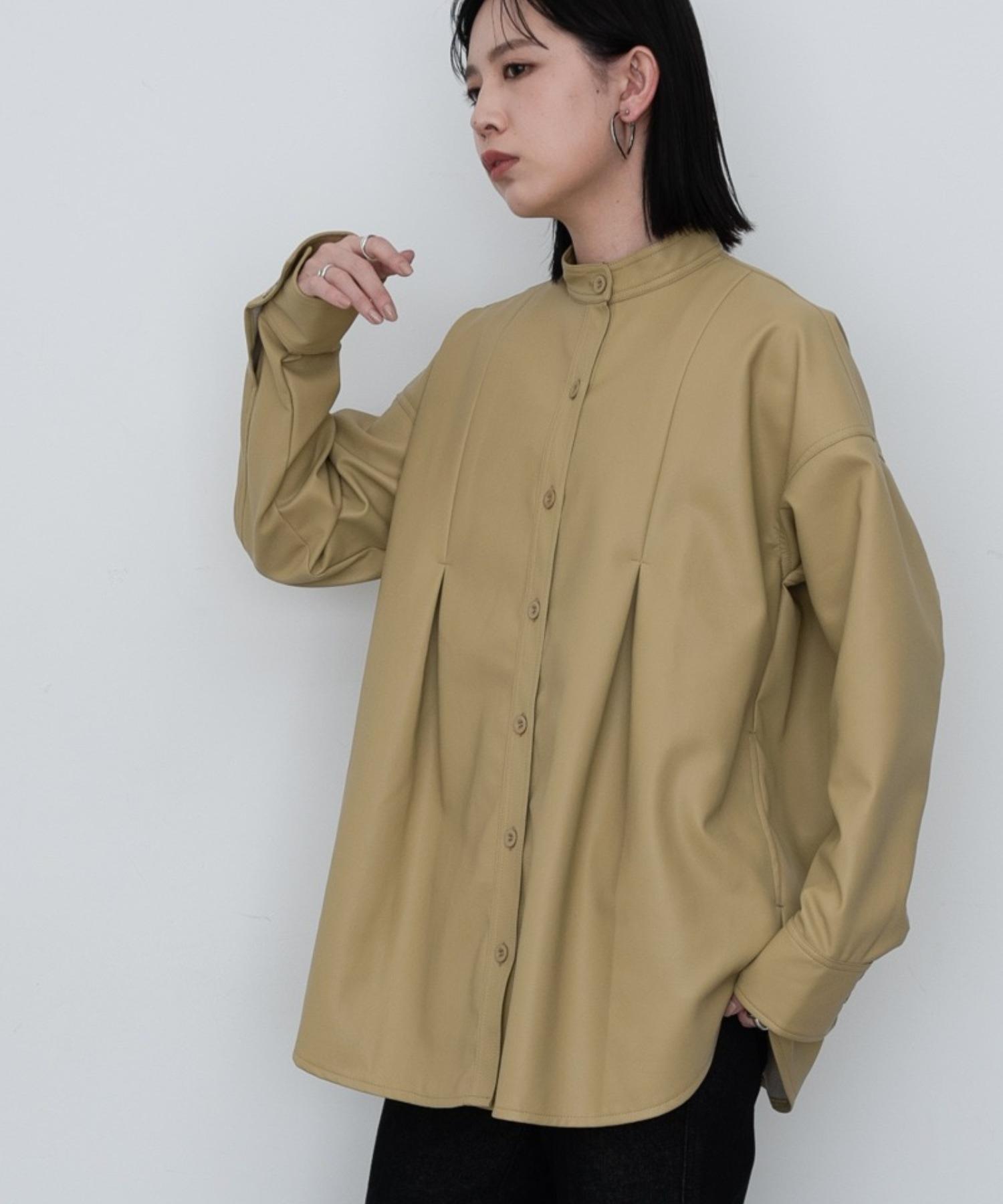 エコレザータックCPOシャツ/YEL