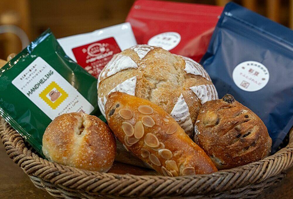 自家製酵母パンとコーヒーのセット