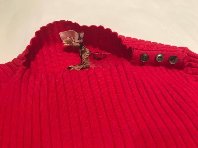 コットンカシミヤセーター   ALDRIDGE ✕blendo アルドリッジ×ブレンドオ     カーネーションピンクレッド