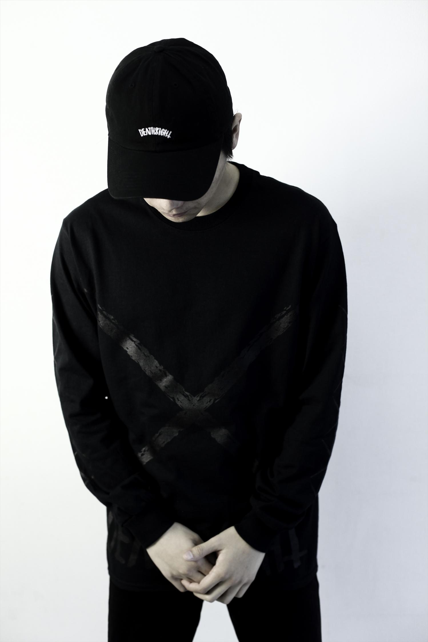 xxx L/S TEES BLACK x BLACK - 画像4
