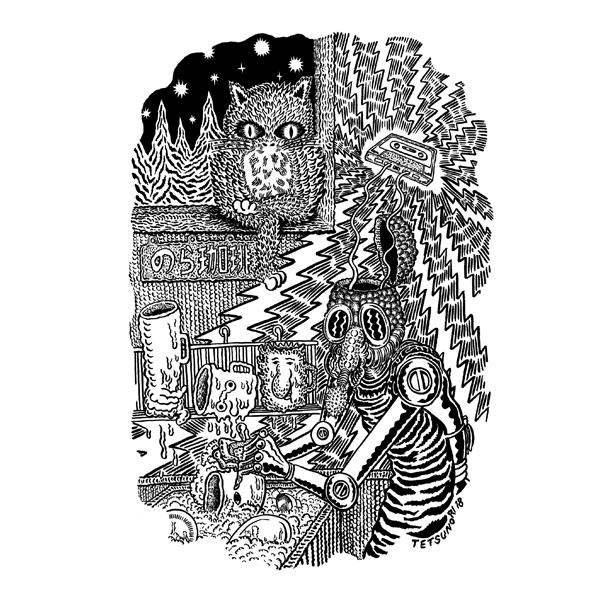 【のら珈琲】のら珈琲×俵谷哲典 コラボレーションTシャツ《黒》&《青》