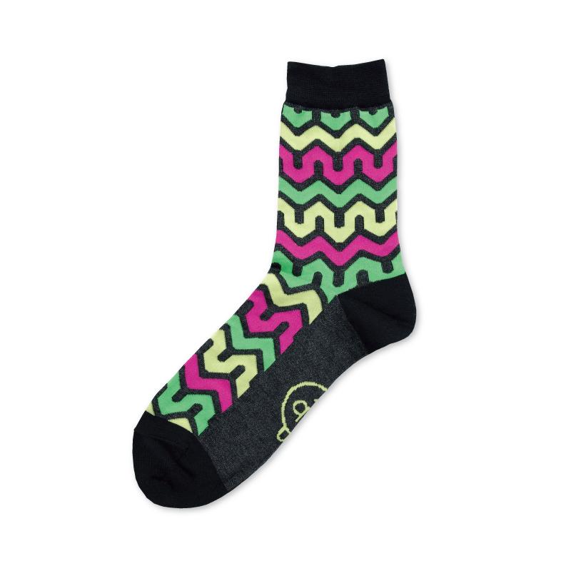 紬POP|靴下|毘沙門山形|ネオンMix 《UNISEX》