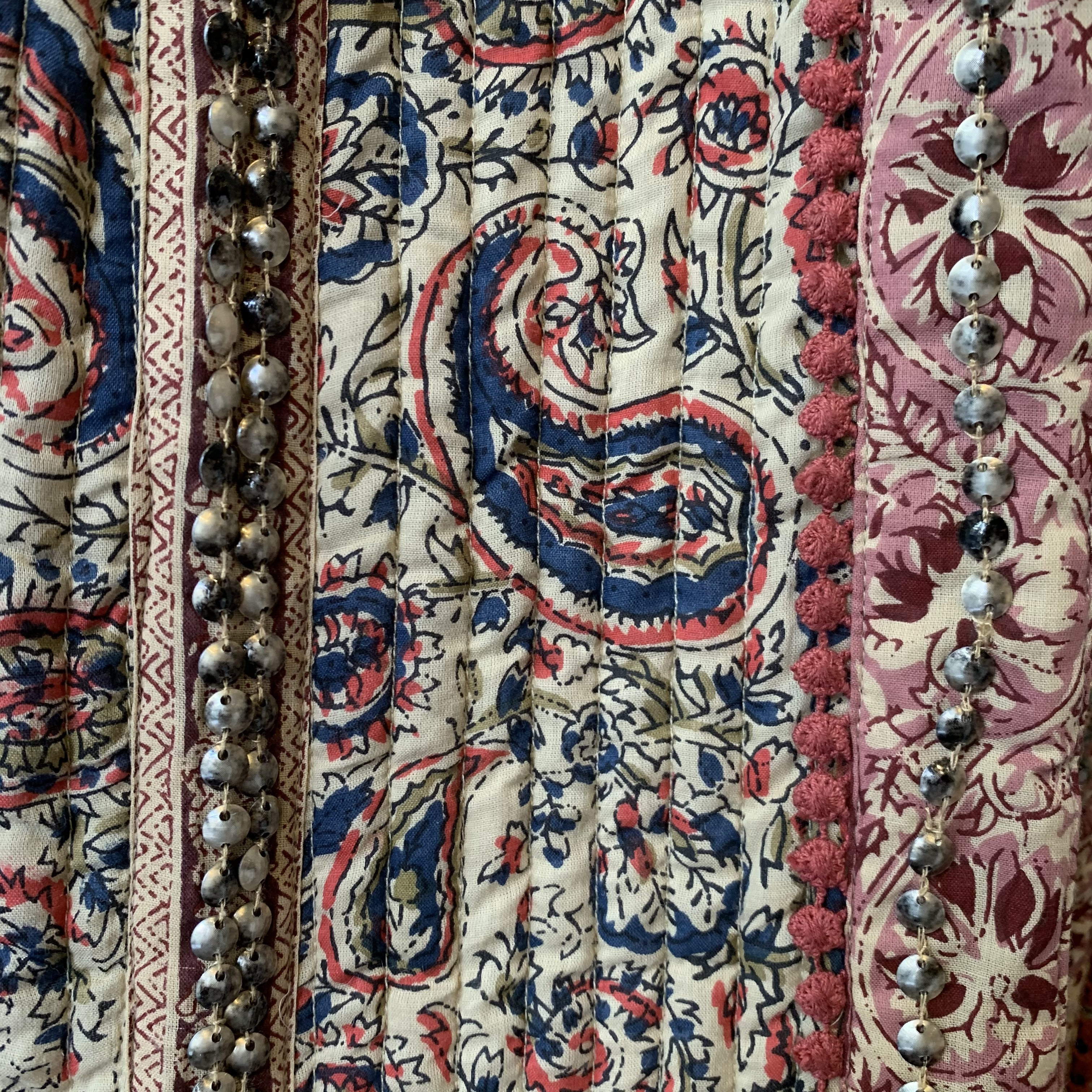 vintage Indian cotton quilting design outer