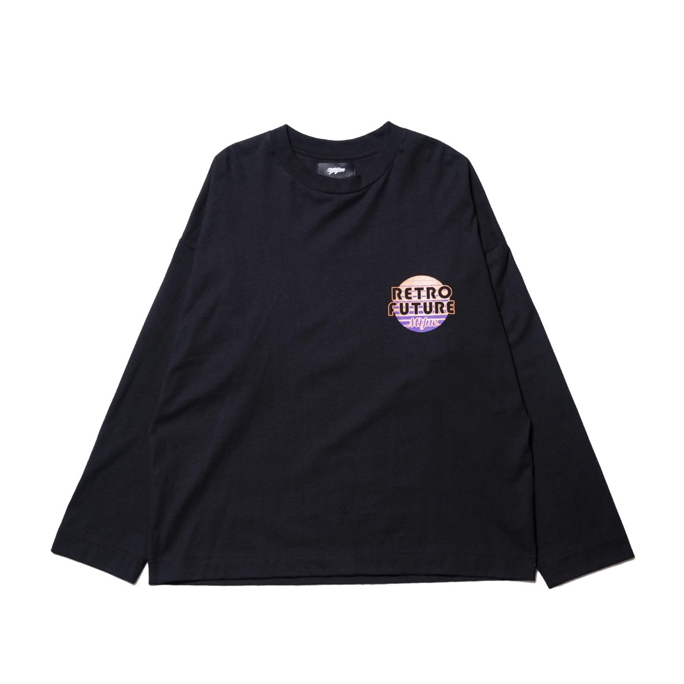 RETRO FUTURE L/S T-shirt / BLACK - 画像1