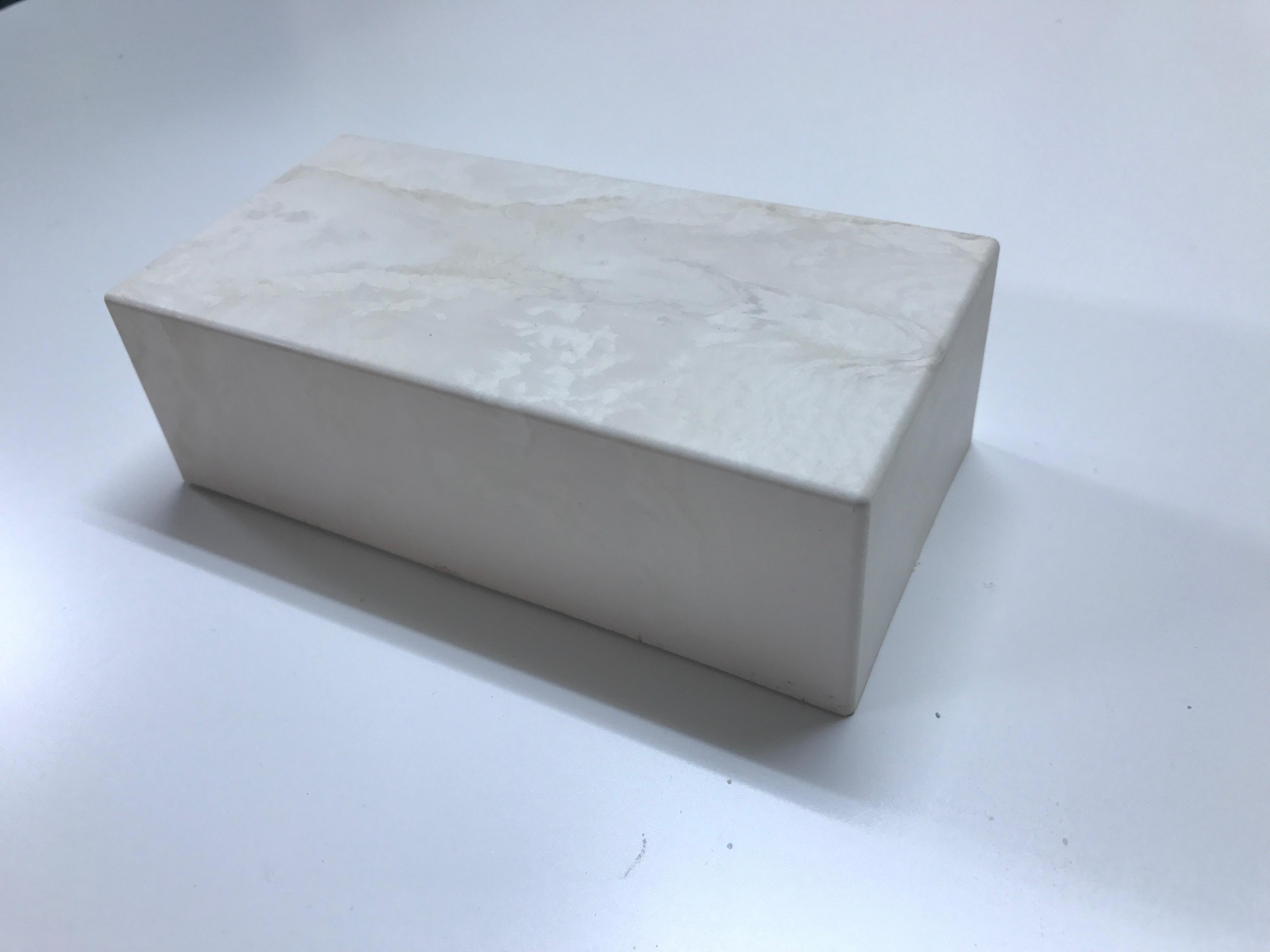 レンブロックカバー ホワイト/マーブル柄  12個セット 数量限定