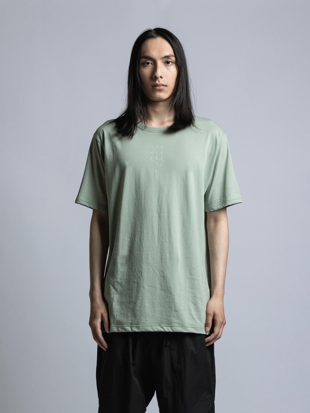 VI-3353-01 / 40/-天竺TVAロゴ刺繍Tシャツ