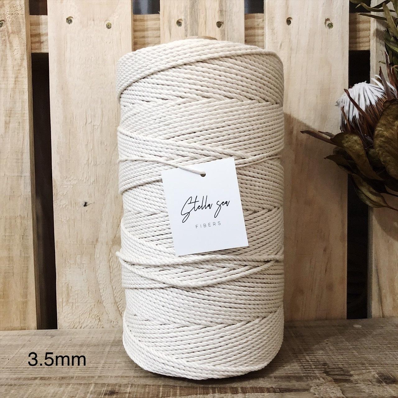 【チーズ巻き】3本撚りマクラメロープ [太さ3.5mm / 408m]
