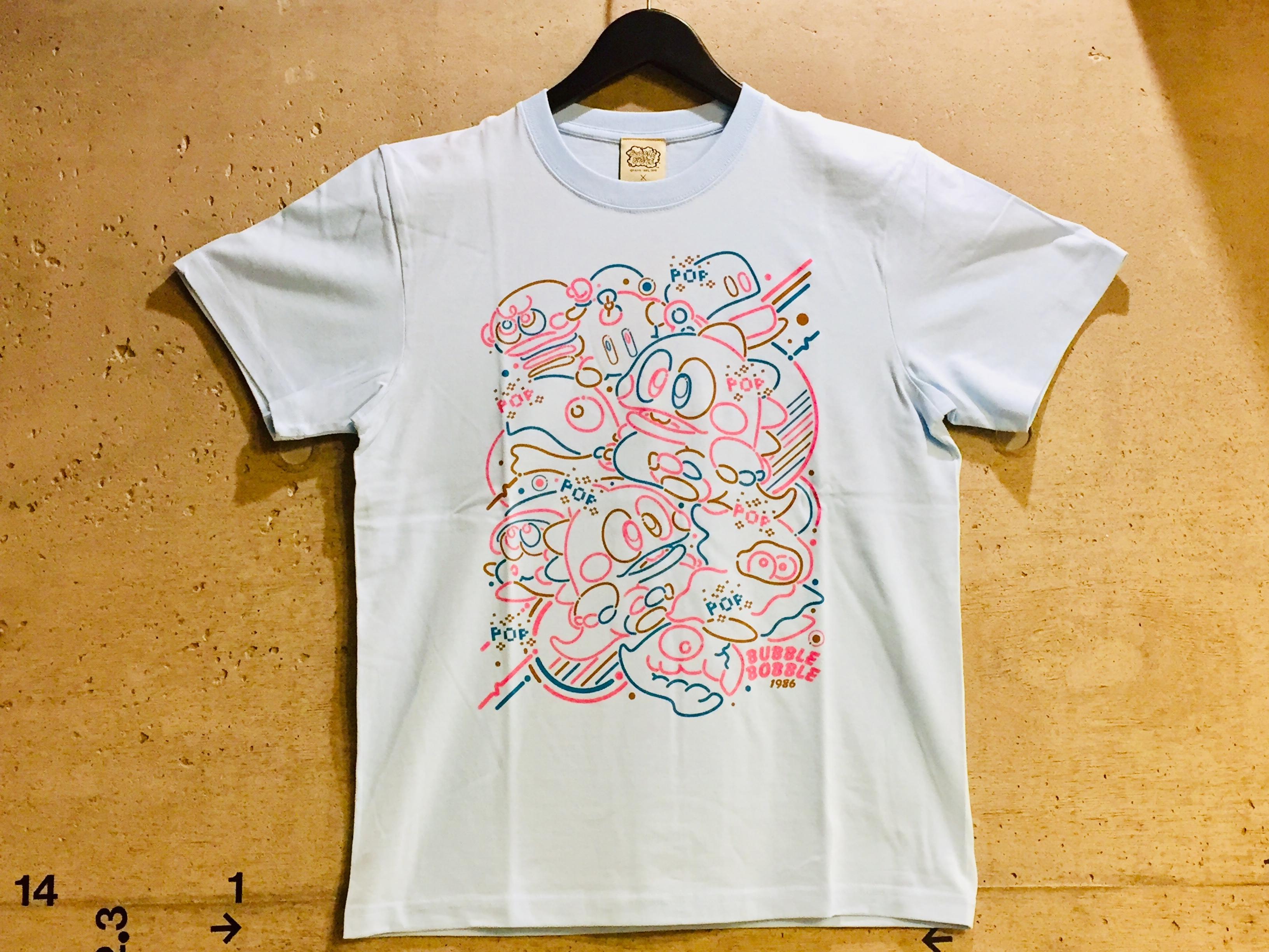 バブルボブル プリントTシャツ ( ライトブルー ) / VIDEO GAME TOKYO