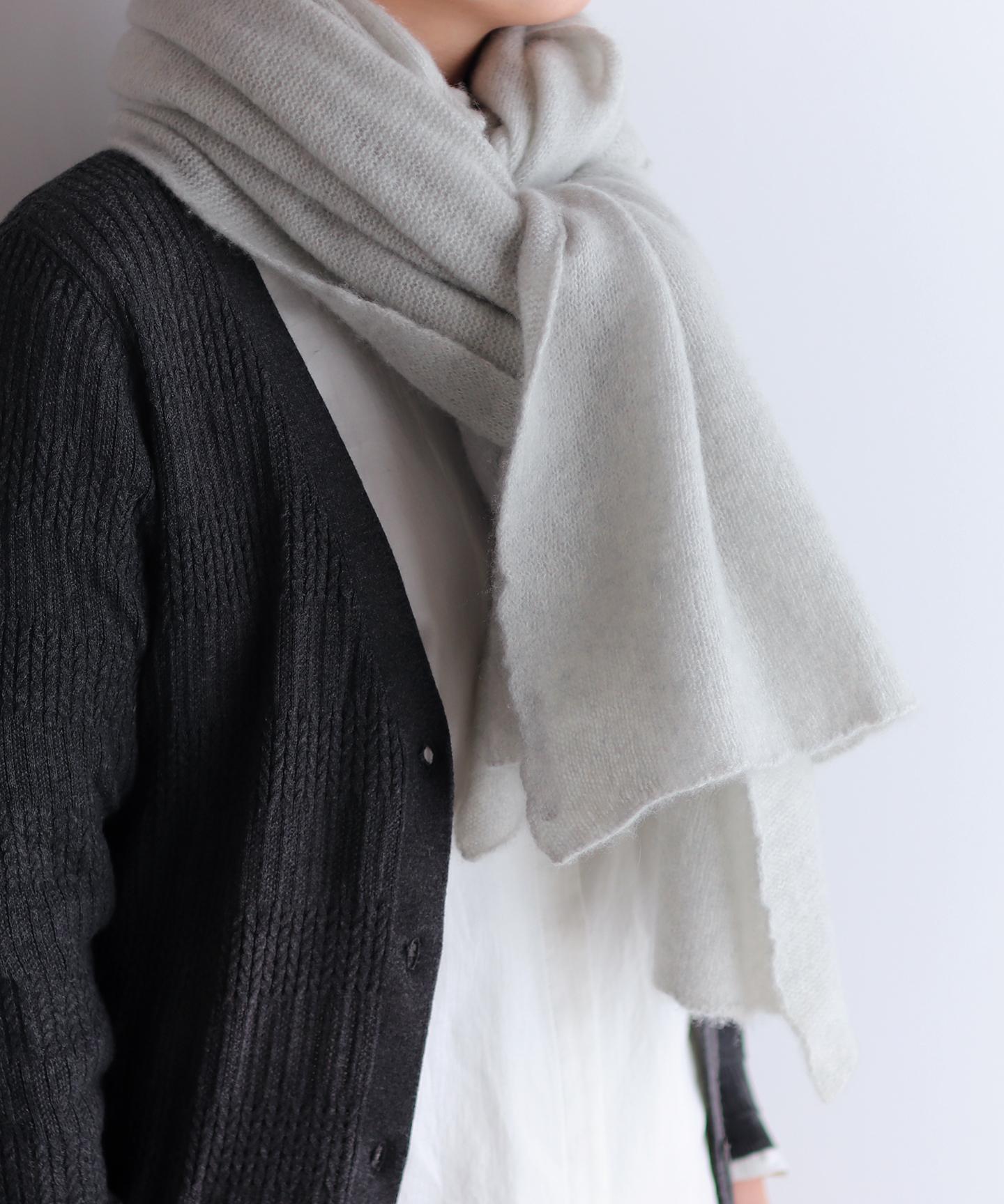 手編み機で編んだ  カシミヤ100%の【大判ストール】9色 CAA-020