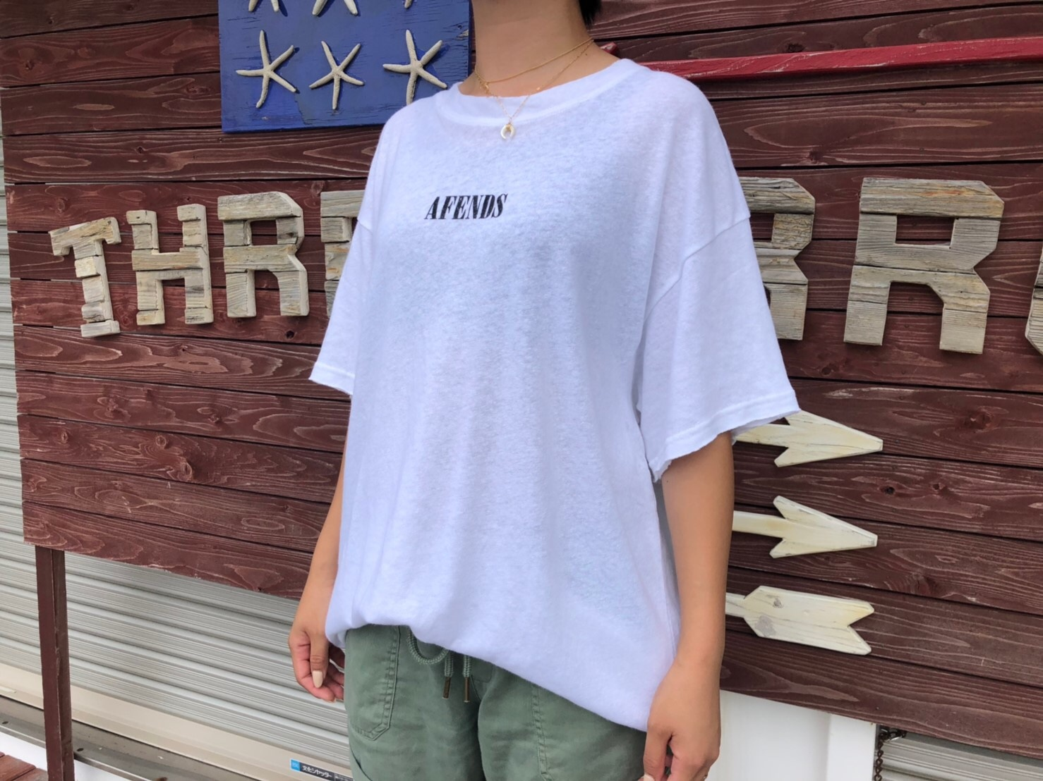 【ladies】Afends. HEMP OVERSIZED TEE (white)