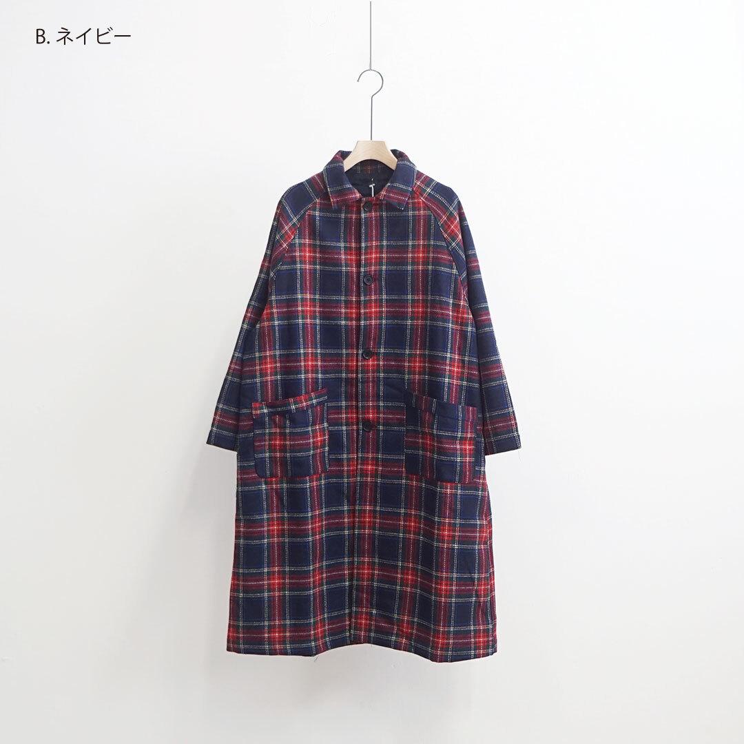 【再入荷なし】 ichi イチ ツイードチェックコート (品番200514)