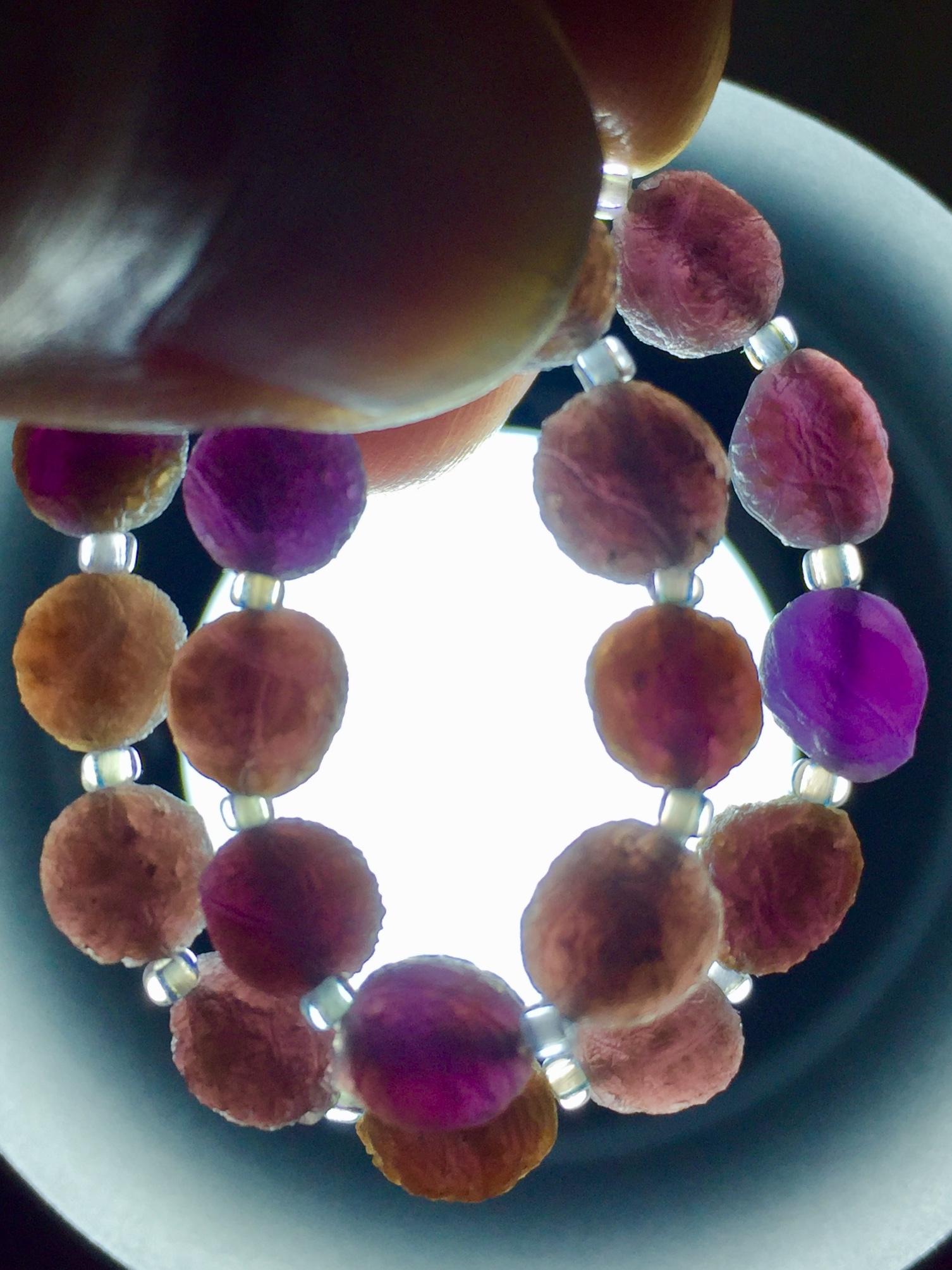 17) 紫ゴビアゲート「卑弥呼」ミニビーズ・ブレスレット