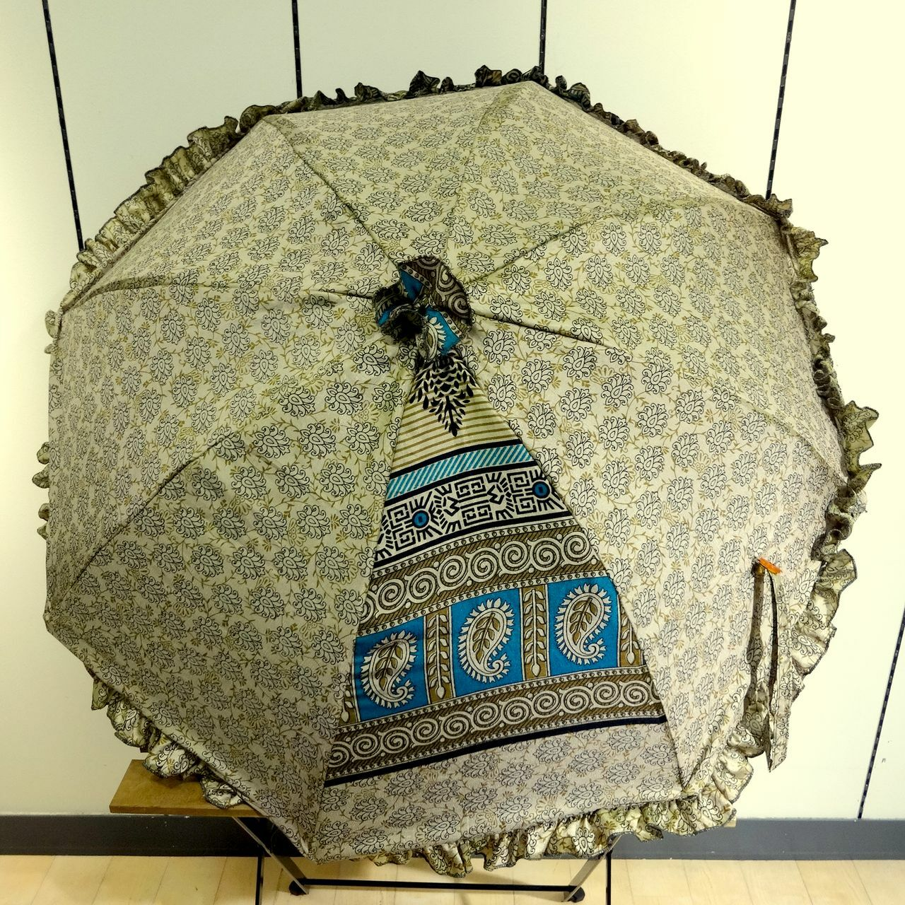 saripn-009 新型シルクサリーパラソル【ロータス】折畳傘本体バッグ付き